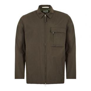 Jens Zip Dry Overshirt - Beech Green