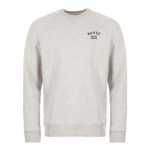 Norse Projects Sweatshirt Ketel Ivy Wave Logo N20 0269 1026 Grey
