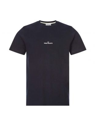 norse projects t-shirt niels wave logo N01 0522 7004 navy