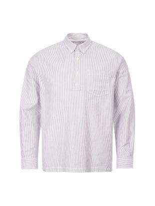 norse projects shirt oscar oxford N40 0514 2062 eggplant navy stripe