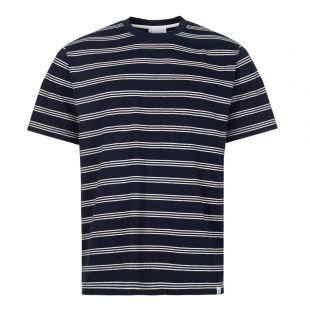 Norse Projects T-Shirt Johannes   N01 0457 7004 Dark Navy Stripe