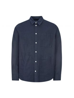 Norse Projects Shirt Thorsten Canvas | N40 0529 7004 Navy