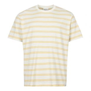 Norse Projects T-Shirt Johannes | N01 0457 3037 Sunrise Yellow Stripe