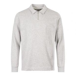 Norse Projects Jorn Half Zip Sweatshirt N10|0164|1026 In Grey At Aphrodite Clothing