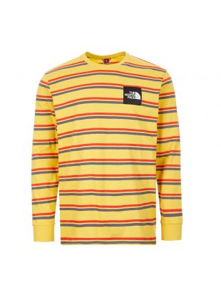 The North Face Long Sleeve T-Shirt | Bamboo Yellow Stripe NF0A4C9INU4 | Aphrodite