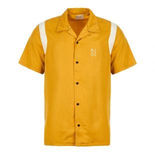 Nudie Jeans Shirt Bowling Jack   140598 Y15 Turmeric Yellow