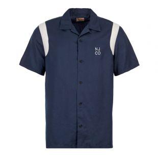 Nudie Jeans Shirt Bowling Jack    140598 NIGHT Blue