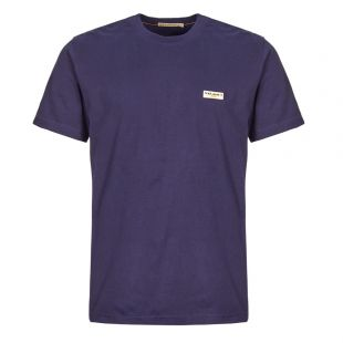Nudie Jeans Daniel Logo T-Shirt | 131613 MIDNIGHT Midnight
