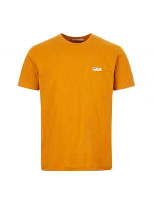 nudie jeans t-shirt daniel logo 131613 C26 amber