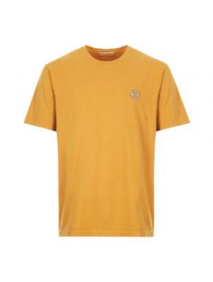 nudie jeans t-shirt logo, 131680 C26, amber