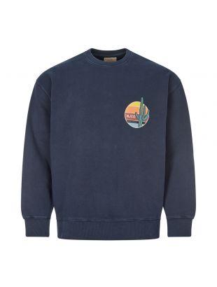 Nudie Jeans Sweatshirt , 150458 Navy , Aphrodite 1994