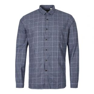 Oliver Spencer Clerkenwell Tab Shirt OSMS66A|BRO01|BLU in Blue At Aphrodite1994