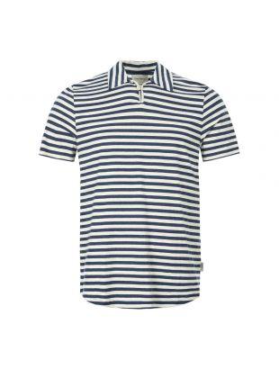 oliver spencer polo shirt hawthorn | OSMK614 CAP01 navy beige