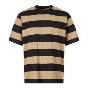 Oliver Spencer T-Shirt OSMK680A|PAZ01|BKB At Aphrodite Clothing