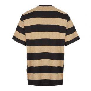 T-Shirt - Black / Beige Stripe