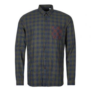 Oliver Spencer New York Special Shirt OSMS200E CAM01 GRN In Green And Blue Check At Aphrodite1994