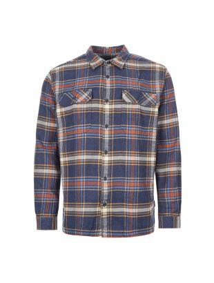 Patagonia Fjord Flannel Shirt | 53947 DENN Navy / Rust / Green