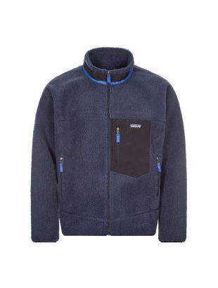 patagonia classic retro x fleece jacket navy