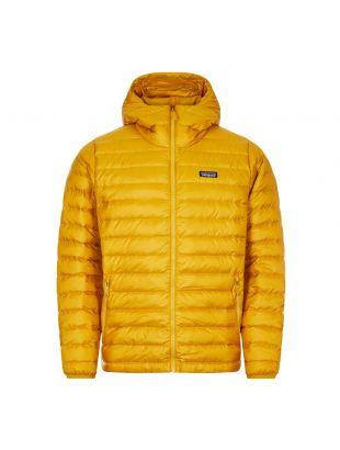 patagonia down sweater hoody jacket buckwheat gold