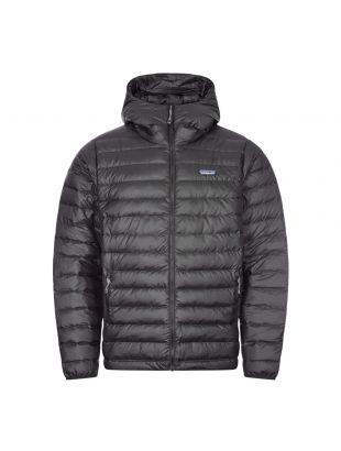 patagonia down sweater hoody jacket black