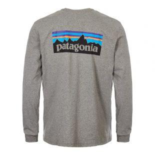 Long Sleeve T-Shirt P-6 Logo  - Grey
