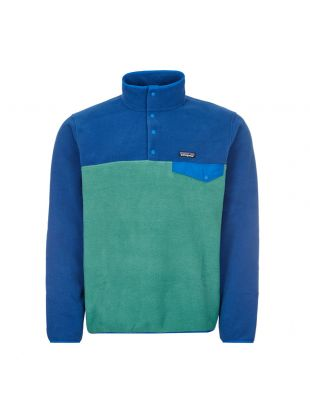 Synchilla Fleece Snap Pullover - Blue / Green