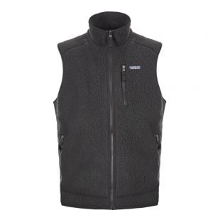Patagonia Gilet Retro Pile Vest 22821|BLK Black At Aphrodite Clothing