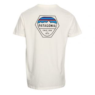 T-Shirt Fitz Roy Hex Pocket - White