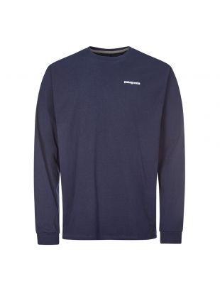 Patagonia Long Sleeve T-Shirt Logo   38518 CNY Navy   Aphrodite