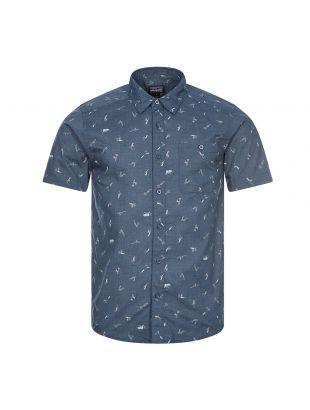 patagonia short sleeve shirt go to stone blue