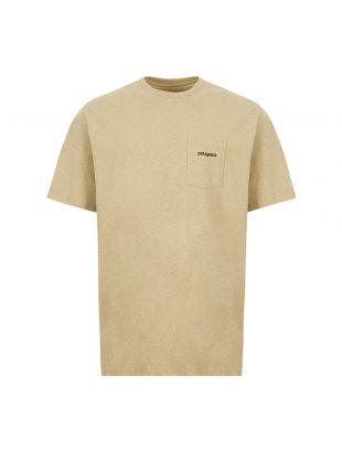 patagonia t-shirt ridge logo pocket responsibili 38511 CSC classic tan