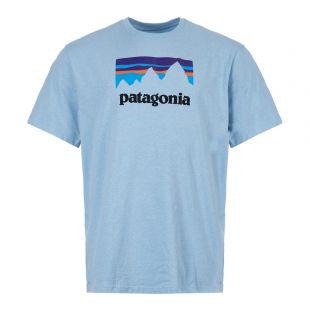 patagonia t-shirt shop sticker responsibili 39175 BUPB break up blue