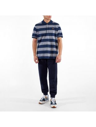 Polo Stripe - Navy / Grey