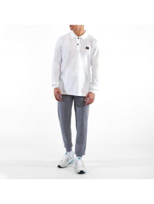 Long Sleeve Polo - White