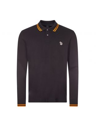 Long Sleeve Polo - Black