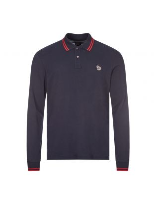 Paul Smith Long Sleeve Polo | M2R 115LZ E20068 49 Navy | Aphrodite
