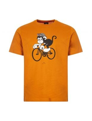T-Shirt Bike Monkey - Dark Orange