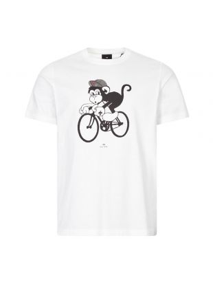 Paul Smith T-Shirt Bike Monkey | M2R 011R EP2417 01 White | Aphrodite