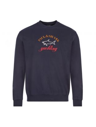 Paul and Shark Logo Sweatshirt | C0P1021 013 Navy