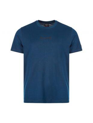 paul and shark t-shirt logo A20P1675 013 navy