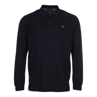 Paul and Shark Long Sleeve Polo Shirt P18P1612 013 Navy