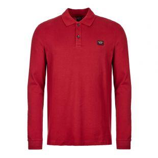 Paul & Shark Long Sleeve Polo Shirt | COP1001 142 Dark Wine
