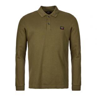 Paul & Shark Long Sleeve Polo Shirt | COP1001 132 Olive