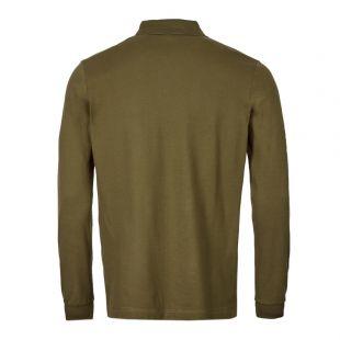 Long Sleeve Polo Shirt – Olive
