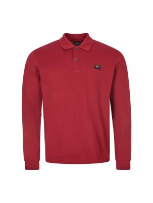 Paul and Shark Long Sleeve Polo | C0P1001 142 Burgundy | Aphrodite