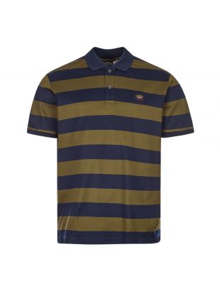Paul and Shark Polo Stripe | C0P1012 142 Navy / Green | Aphrodite