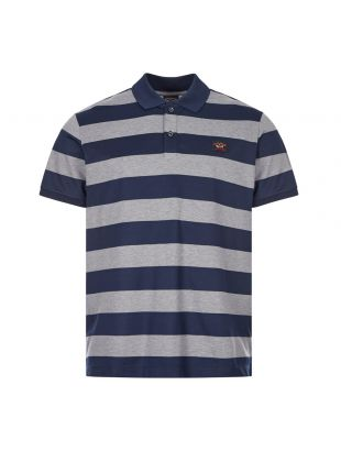 Paul and Shark Polo Stripe | C0P1012 142 Navy / Grey | Aphrodite