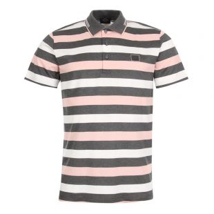 Paul & Shark Polo Shirt A18P1721SF 211 Grey / White / Peach