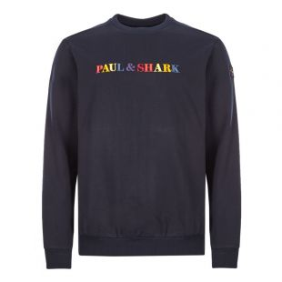 Paul And Shark Sweatshirt Logo A19P1914|013 In Navy At Aphrodite Clothing