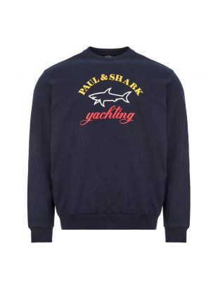 paul and shark sweatshirt logo | P20P1919 013 navy